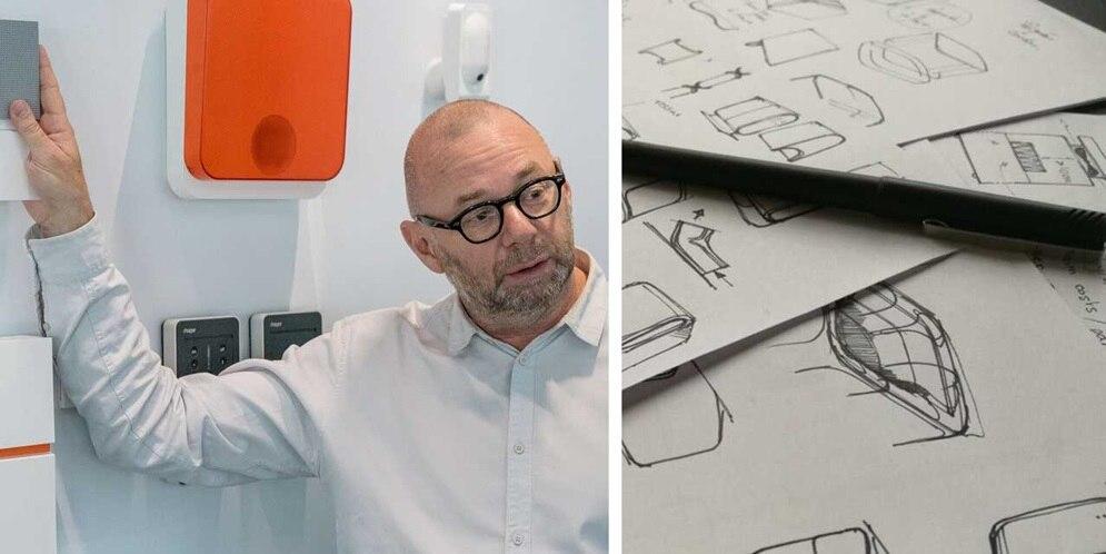 Header split with Erwin van Handenhoven and design sketches