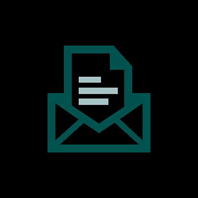 Icon eines offenen Briefs.