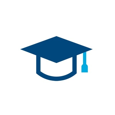 Icon eines Doktorhuts, Sinnbild für Bildung.