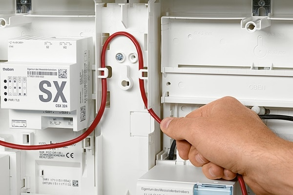 Verlegung der Leitungen