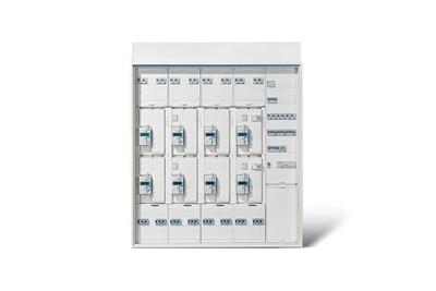 Hager Kabelmanagement BKE-AZ Blick - Innenansicht Komplettschrank geschlossener Zustand