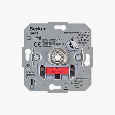 Frontansicht vom Berker Drehdimmer LED Basic 2909