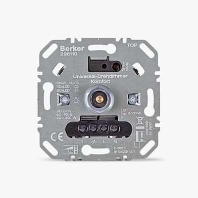 Frontansicht vom Berker Drehdimmer LED Komfort 296110
