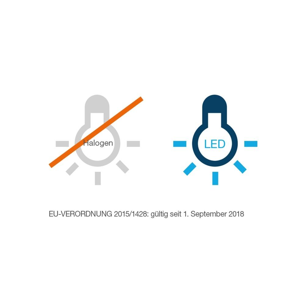 Symbolbild: Die EU-Verordnung verbietet seit dem 1. September 2018 Halogenlampen als Leuchtmittel.