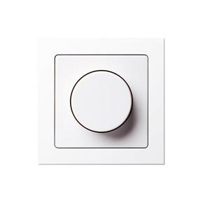 Frontansicht Berker LED Dimmer im 1fach Rahmen des Schalterprogramms Q.3.