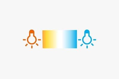 Symbolbild für Einstellung der LED-Farbtemperatur über Tunable White von 1.000 bis 10.000 K