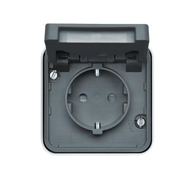 Frontansicht Berker W.1 IP55 - Schalter für Außenanlagen