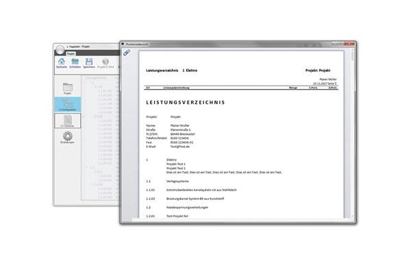 hagerplan: LV-Vorschau im PDF-Format