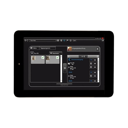 Tablet-Ansicht der Kalenderfunktion der domovea Software