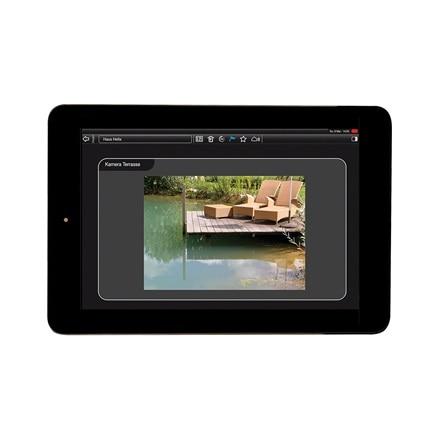 Tablet-Ansicht der Kamerafunktion der domovea Software