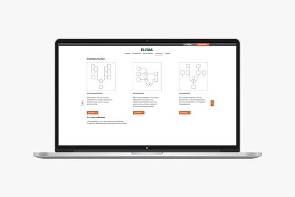 Laptop mit Elcom 2Draht Systemkonfigurator: Verkabelung planen