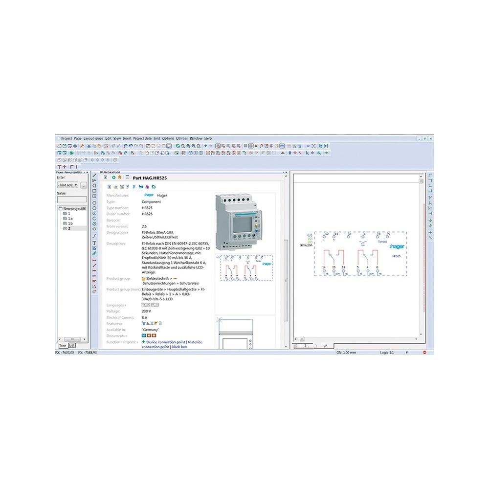 Hager Produkt in der EPLAN Datenbank