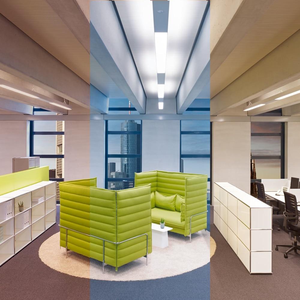 Großraumbüro mit KNX-DALI-Lichtsteuerung, gesteuert mit domovea