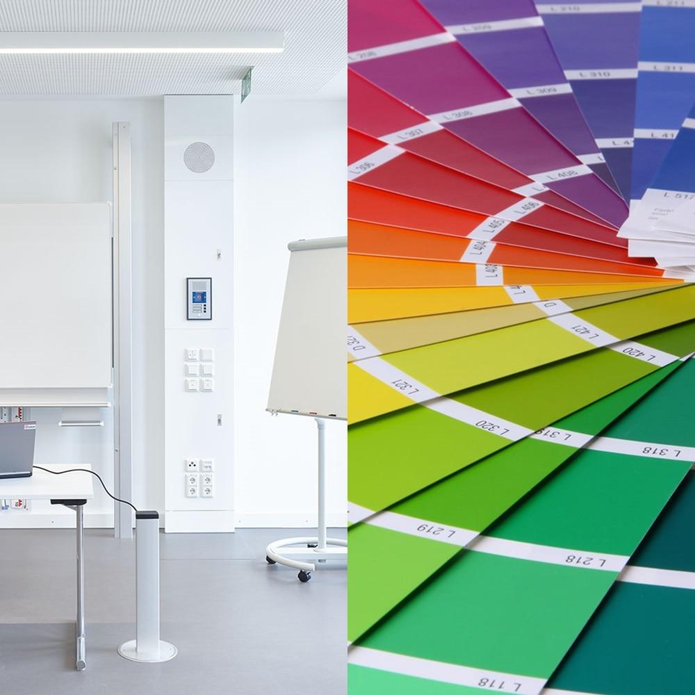 Farbfächer zur Illustration der vielfältigen Design-Lösungen