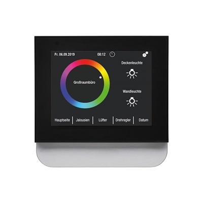 KNX-Touch-Control Display konfiguriert als Steuereinheit für ein Großraumbüro