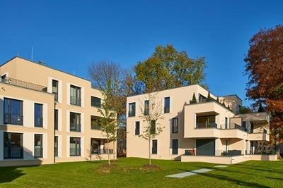 Außenansicht Patrizia Provinopark in Augsburg als Hager-Referenz.