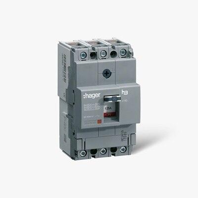 Leistungsschalter h3 HHA025H mit thermischer und magnetischer Auslösung zum Schutz elektrischer Anlagen und Netze.