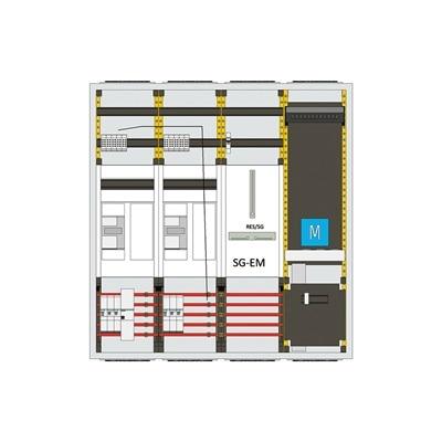 Grafische Darstellung einer Zweirichtungsmessung bis 10 kW Erzeugung