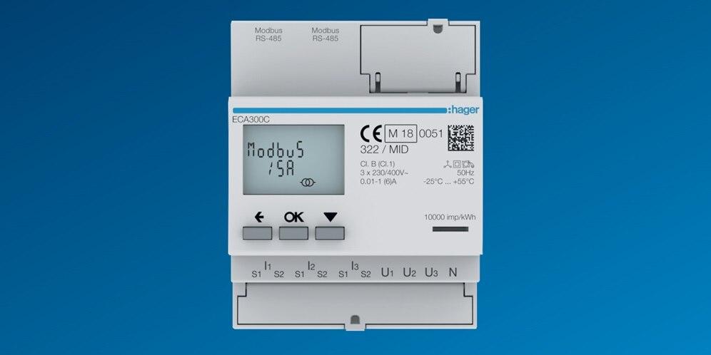 Comptage energie electrique hager, compteurs electriques