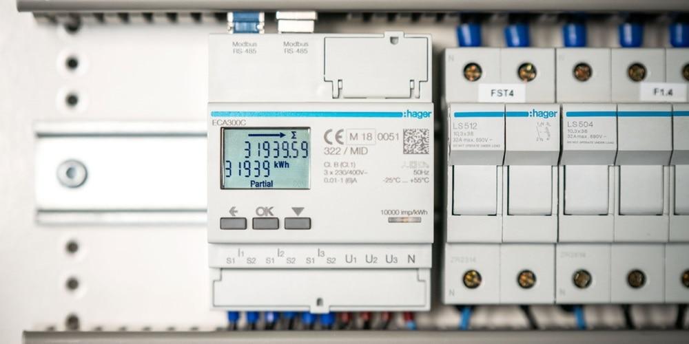 compteur électrique, armoire électrique hager, comptage et gestion