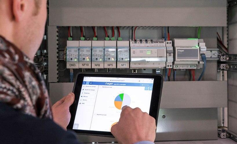 Installation agardio manager, mise en service compteur énergie hager, logiciel agardio manager