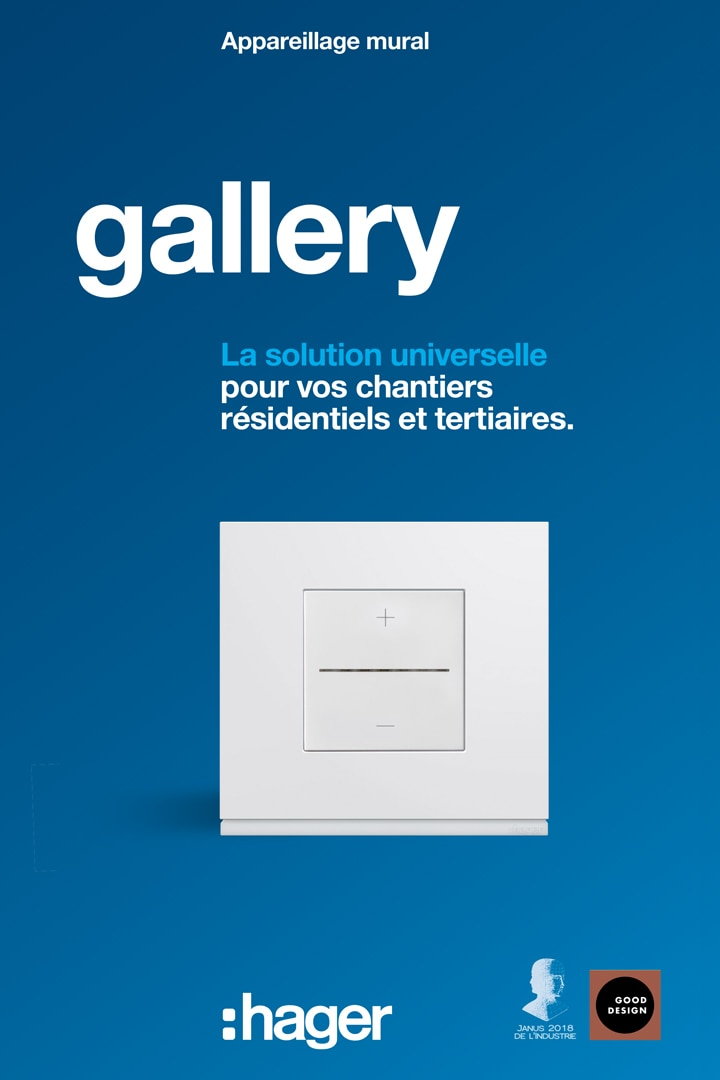 Couverture catalogue Hager gallery Pro