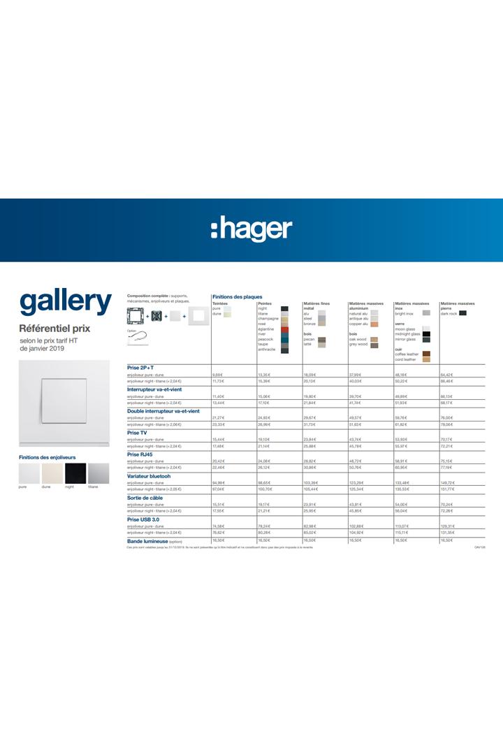 Hager brochure utilisateur final référentiel prix gallery