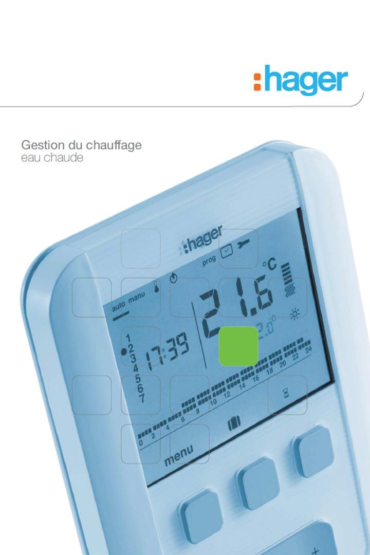 Hager catalogue gestion du chauffage eau chaude