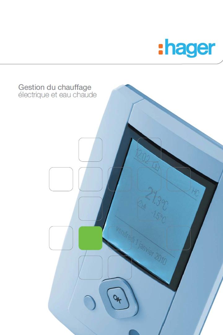 Hager catalogue gestion du chauffage électrique et eau chaude