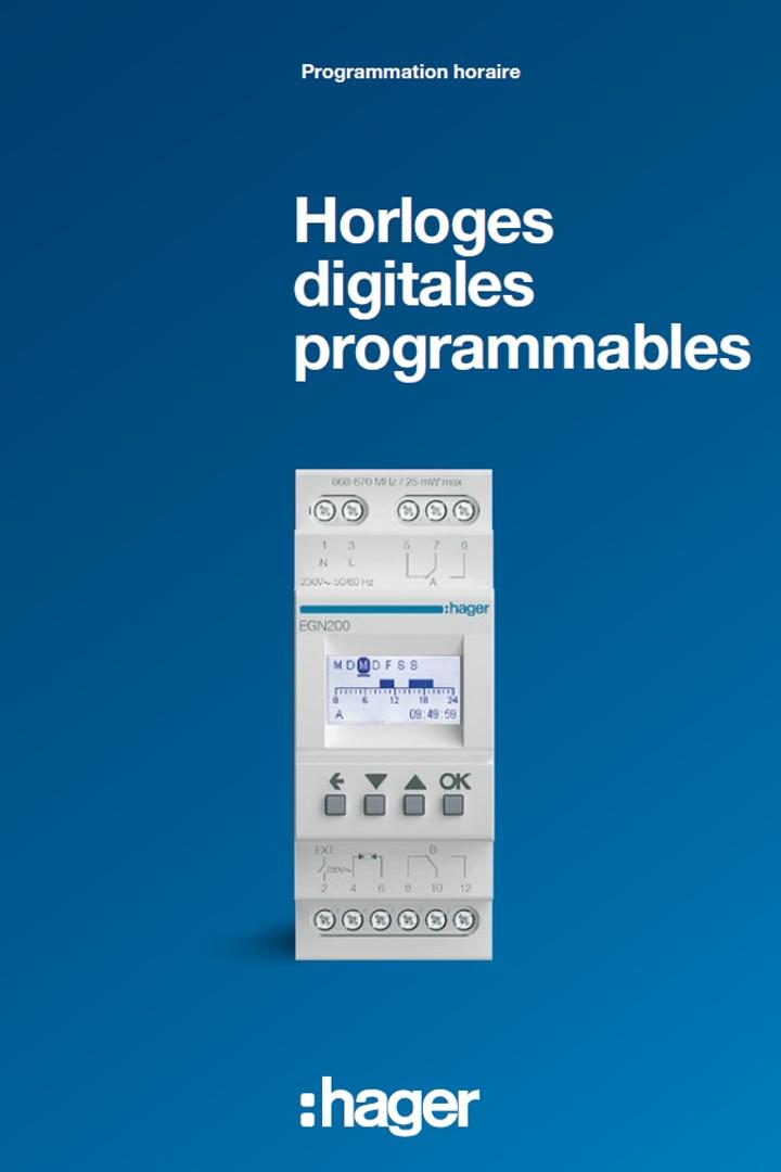 Hager catalogue horloges digitales programmables