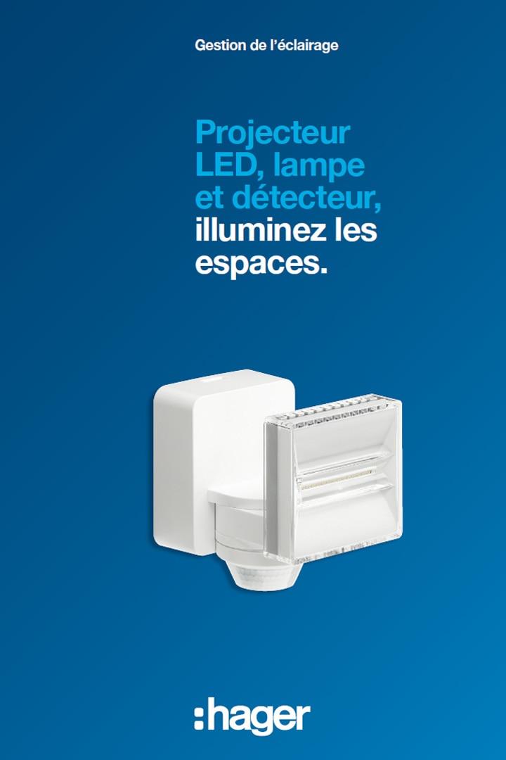 Hager catalogue projecteur LED lampe et détecteur