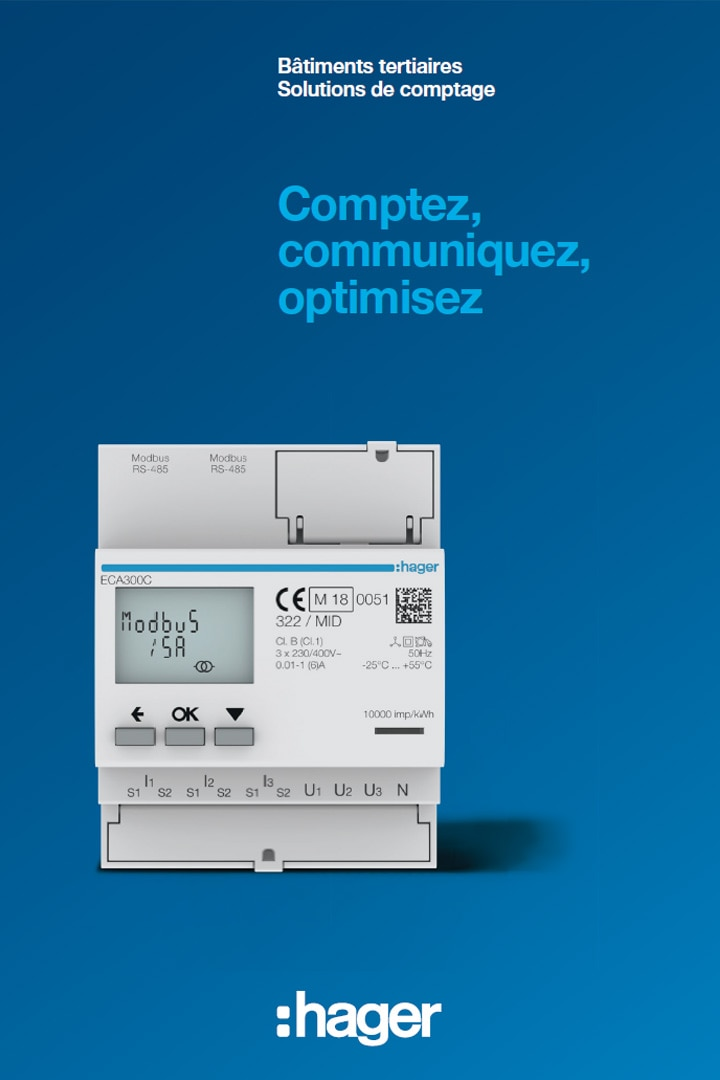 Hager catalogue solution comptage