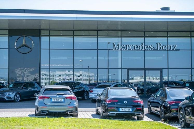 Vue extérieure de la concession Mercedes de Metz