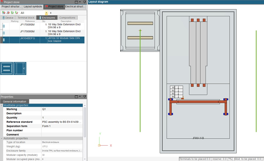 hagercad adding an enclosure to layout diagram