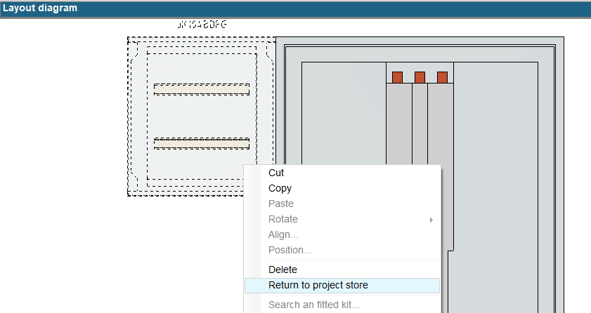 hagercad return product to project store