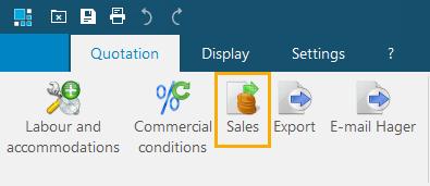 hagercad Sales summary ribbon menu button