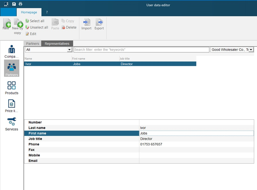 hagercad adding contacts to company screen