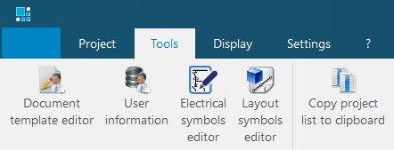 hagercad user information in ribbon menu