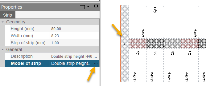 hagercad location of label strip settings