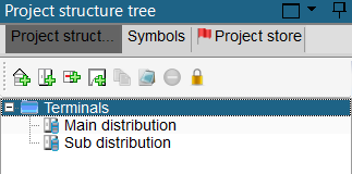 hagercad main and sub distribution in project tree
