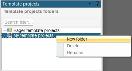 hagercad creating a new project template folder