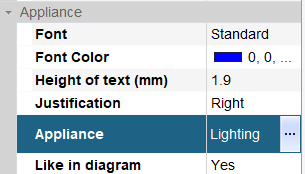 hagercad label appliance options
