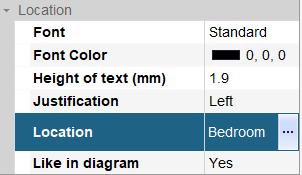 hagercad label location options