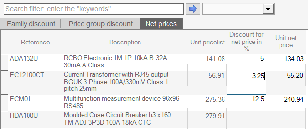 hagercad applying discounts to individual products