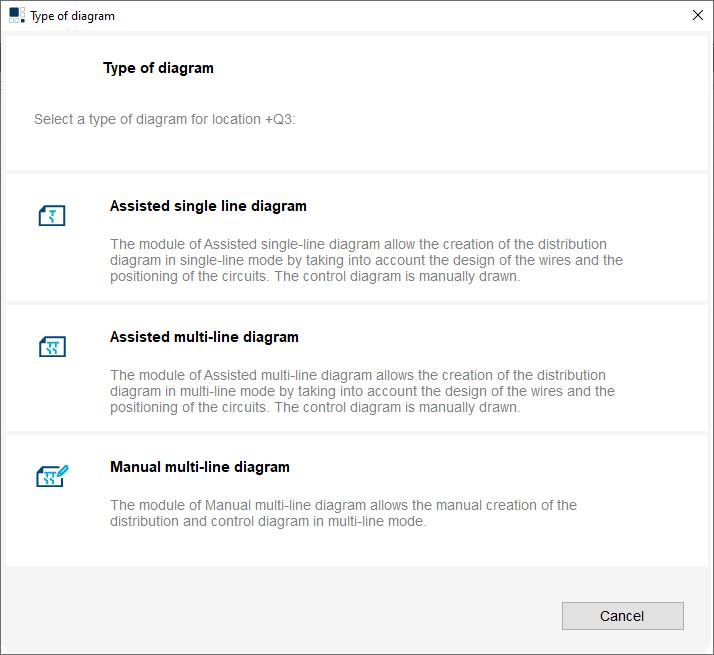 hagercad diagram options