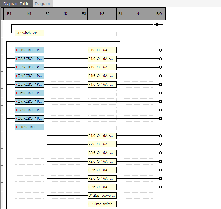 hagercad diagram table